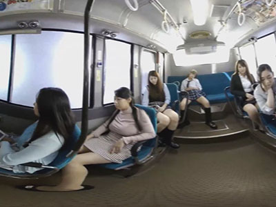 【VR】Naughty! in a city bus